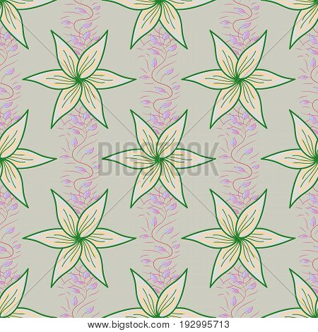 Floral watercolor seamless background. Vector textile print for bed linen jacket package design fabric and fashion concepts. Seamless pattern with flowers.