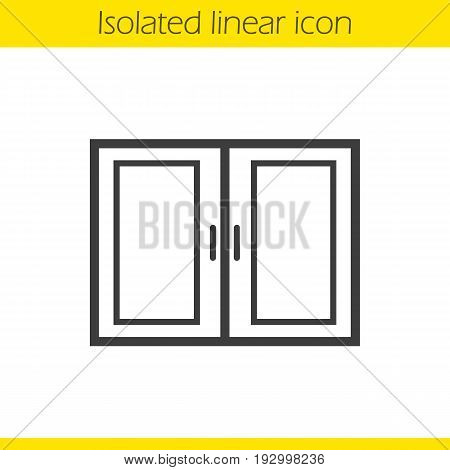 Kitchen cabinet linear icon. Thin line illustration. Contour symbol. Vector isolated outline drawing