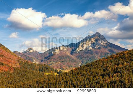 Autumn Landscape In A National Park Mala Fatra, The Little And G