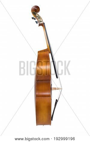 Cello isolated on the white background shoot in studio