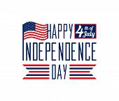 Happy Independence Day - July 4th - Fourth of July vector illustration - Memorial Day - Flag Day - Patriotic poster