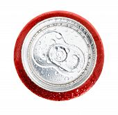 Isolated can cola coca ice cold red white poster