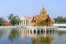 Bang Pa-In Royal Palace the Summer Palace of formerly Thai kings as a summer dwelling. Bang Pa-In district Ayutthaya Province