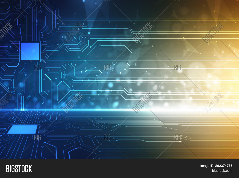 Computer Circuit Board Blue Computer Circuit Board