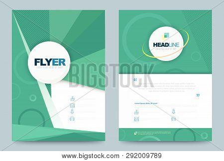 Annual Report Brochure Flyer Design Template. Vector Illustration, Use For Leaflet Cover Presentatio