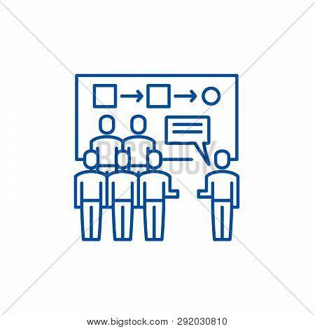 Customer Segmentation Line Icon Concept. Customer Segmentation Flat  Vector Symbol, Sign, Outline Il