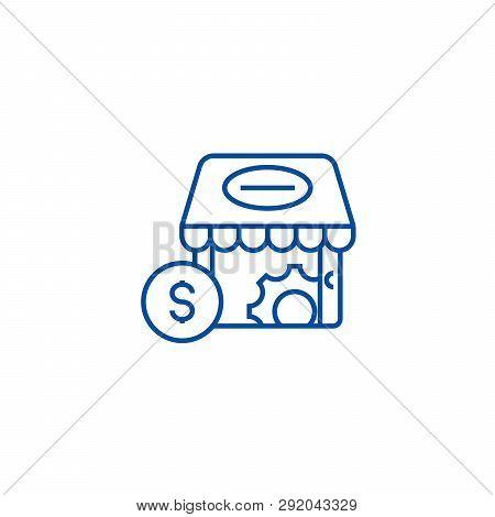 E Commerce Marketing Line Icon Concept. E Commerce Marketing Flat  Vector Symbol, Sign, Outline Illu