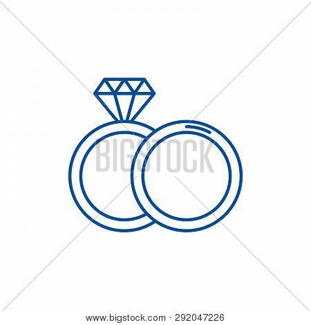 Espousal Line Icon Concept. Espousal Flat  Vector Symbol, Sign, Outline Illustration.