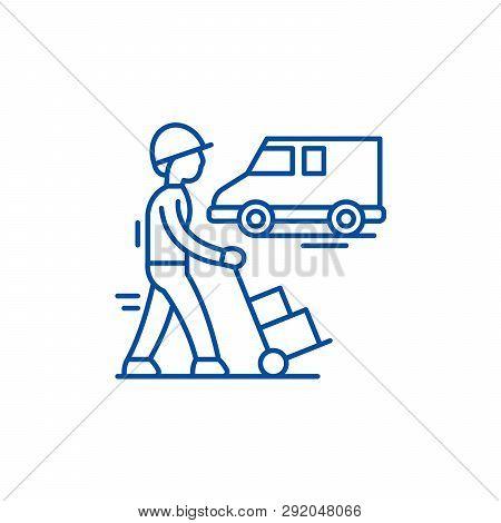Express Logistics Line Icon Concept. Express Logistics Flat  Vector Symbol, Sign, Outline Illustrati