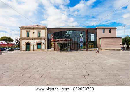 Gijon, Spain - September 25, 2017: The Asturias Gijon Railway Museum Or Museo Del Ferrocarril De Ast