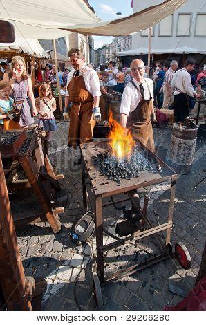 Blacksmith At The Medieval Festival