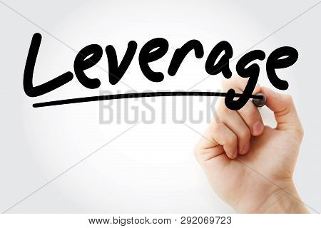 Leverage Text With Marker, Business Concept Background