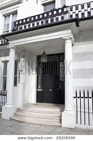 Entrance of Victorian style building