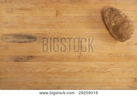 Russet Potato On Countertop