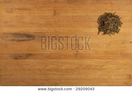 Green Tea On Counter