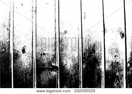 Abstract Background, Wooden Wall. Vector Detailed Wood Texture, Vertical Planks. Put This Illustrati