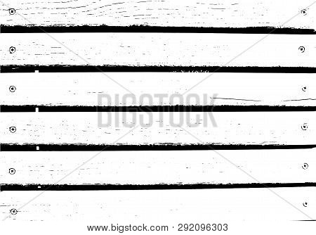 Vector Wood Texture. Abstract Background, Wooden Wall, Nailed Horizontal Planks. Put This Illustrati