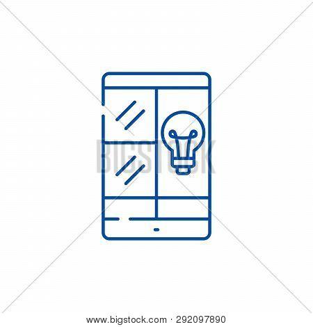 Phablet Idea Line Icon Concept. Phablet Idea Flat  Vector Symbol, Sign, Outline Illustration.