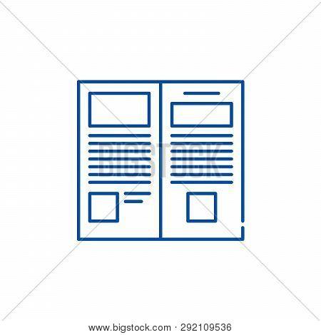 Press Release Line Icon Concept. Press Release Flat  Vector Symbol, Sign, Outline Illustration.