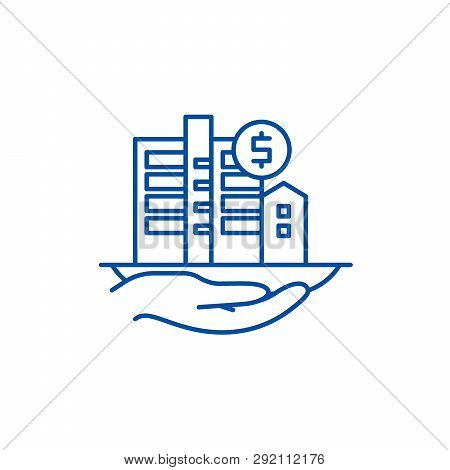 Property Valuation Line Icon Concept. Property Valuation Flat  Vector Symbol, Sign, Outline Illustra