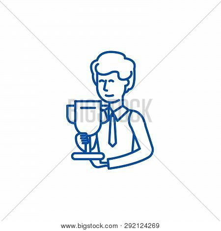 Science Grant Line Icon Concept. Science Grant Flat  Vector Symbol, Sign, Outline Illustration.