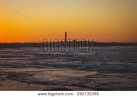 scenic view of El Hank Lighthouse casablanca, Morocco poster