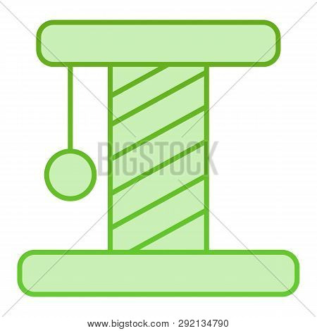 Cat Scratcher Flat Icon. Pet Toy Green Icons In Trendy Flat Style. Kitten Scratcher Gradient Style D