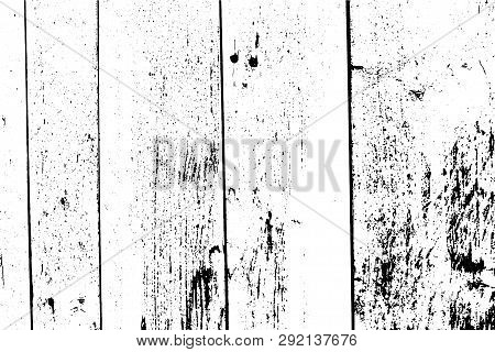 Vector Wood Texture. Abstract Background, Vertical Planks, Wooden Wall. Put This Illustration Over A