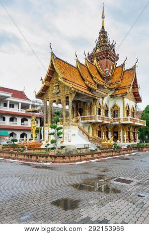 Wat Buppharam In The Old Town Of Chiang Mai, Thailand