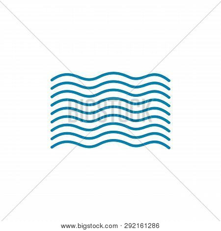 Waves Icon Isolated On White Background. Waves Icon Simple Sign. Waves Icon Trendy And Modern Symbol