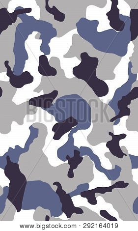 Camouflage Seamless Color Pattern. Army Camo, Camouflage Clothing Background.