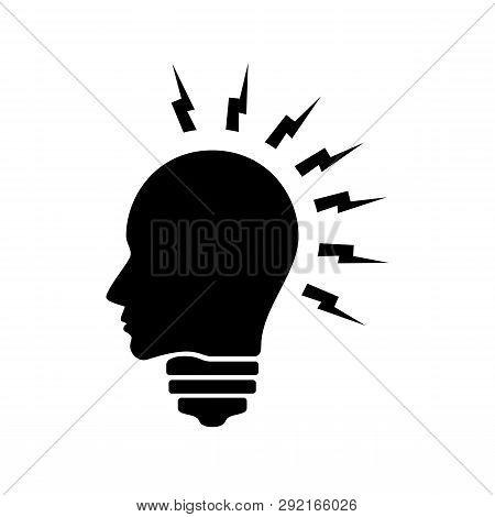 Head Idea Icon Vector On White Background. Head Idea Icon Modern Icon For Graphic And Web Design. He