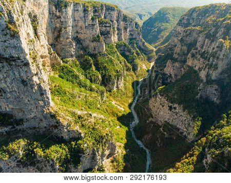 Vikos Gorge, A Gorge In The Pindus Mountains Of Northern Greece, Lying On The Southern Slopes Of Mou