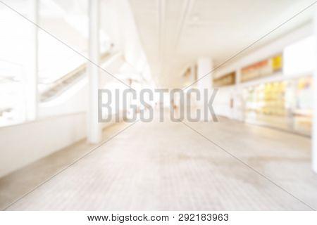 Shopping Mall Abstract Defocused Blurred Background. Business Concept.