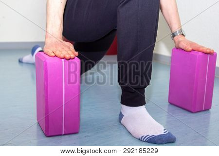 Colorful Gymnastics Material For Exercises At The Physiotherapist