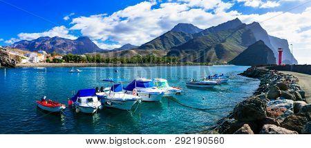 Gran Canaria island- picturesque traditional fishing village La Aldea de san Nicolas. Canary islands of Spain