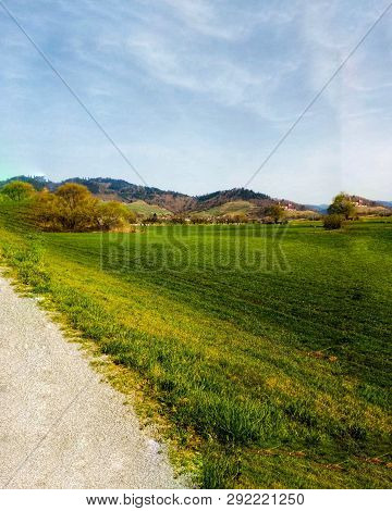 Green Sommer Is Coming, Great Landscape And Mountains.