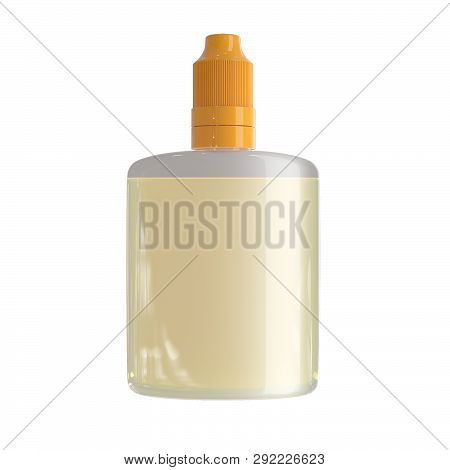 3d Rendering Mockup Bottle With Liquid Isolated