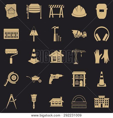 Undertaking Icons Set. Simple Set Of 25 Undertaking Vector Icons For Web For Any Design