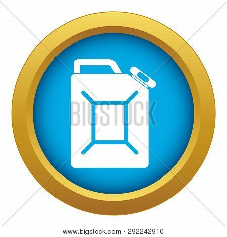 Fuel Jerrycan Icon Blue Vector Isolated On White Background For Any Design
