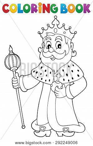 Coloring Book King Topic 1 - Eps10 Vector Picture Illustration.
