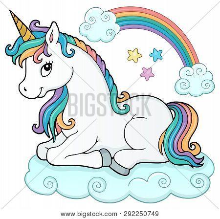 Stylized Unicorn Theme Image 5 - Eps10 Vector Picture Illustration.