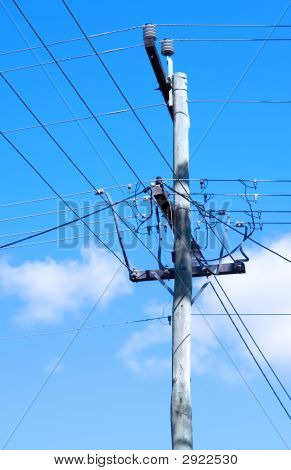 Power Line With Cable