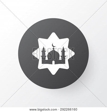 Masjid Icon Symbol. Premium Quality Isolated Mosque Element In Trendy Style.