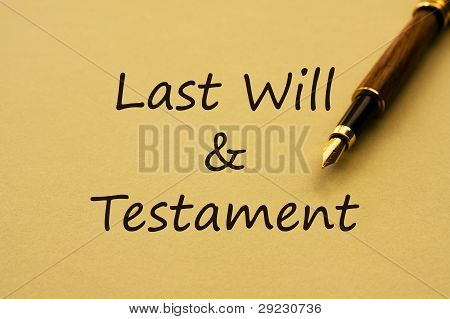 Writing You Last Will And Testament