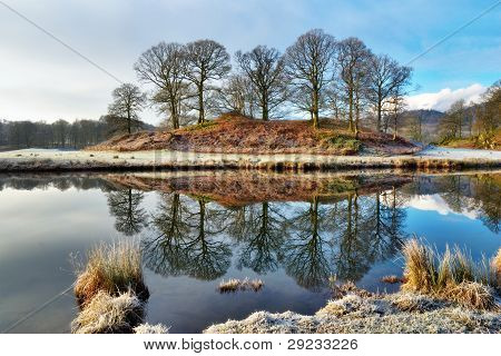 Icy Reflections In Calm Waters