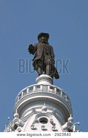 William Penn Statue At City Hall, Philadelphia