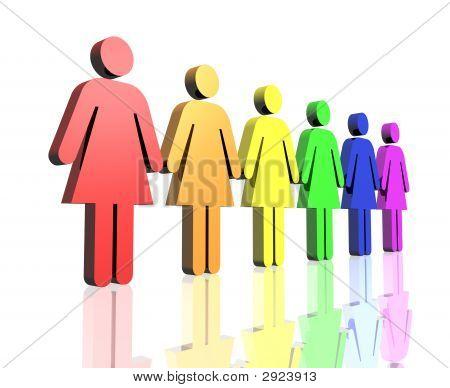 Gay Women Flag Side