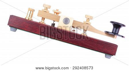 Image Of One Morse Key Isolated At Ady