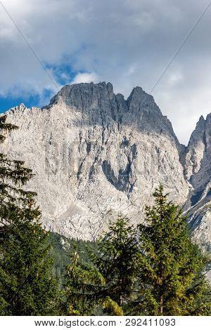 Detail Of Mieming Range Or Mieminger Mountains. Northern Limestone Alps, Tyrol State, Austria, Europ